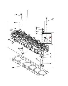 John Deere Camasa Injector RE527456