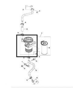 John Deere Capac Filtru Ulei Motor DZ106083