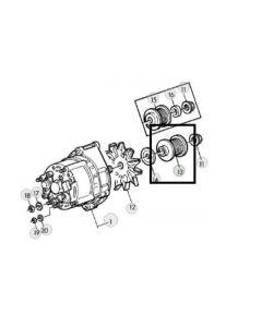 John Deere Fulie Alternator L110007