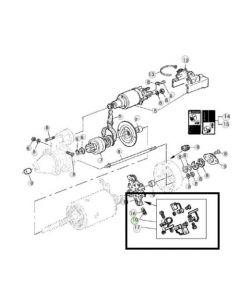 John Deere Set Perii Electromotor AL70853